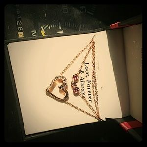 Swarovski Crystal Fine Silver Plated/14kt Rosegold